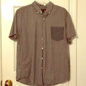 Black and White Checked Short Sleeved Button Down